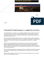 Transnational Criminal Insurgency- A Complicated Web of Chaos
