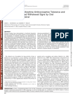 Modulation of Oral Morphine Antinociceptive Tolerance and Naloxone-Precipitated Withdrawal Signs by Oral Δ9-Tetrahydrocannabinol - J Pharmacol Exp Ther-2003-Cichewicz-812-7