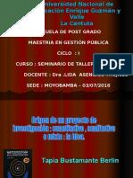 Origen del Proyecto de Investigacion C,C o Mista .la Idea.ppt