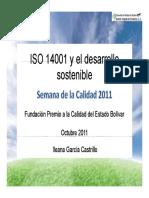 ISO 14001 y El Desarrollo Sostenible Parte 1