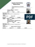 Evergreen Park Arrests, July 17, 2016