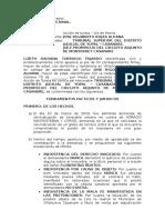 modelo de tutela contra providencia judicial
