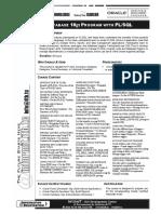Syllabus - Oracle 10g Program With PLSQL