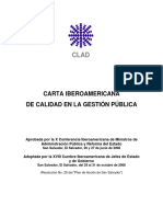 Carta IberoAmericana de calidad