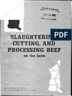 Slaughtering Cutting and Processing Beef on the Farm 1965