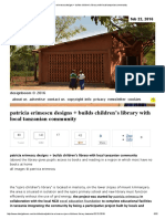 patricia erimescu designs + builds children's library with local tanzanian community