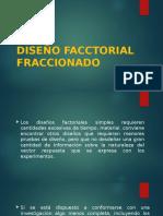 DISEÑO FACCTORIAL FRACCIONADO