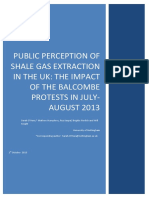 Public Perception of Shale Gas Extraction