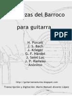 Varios autores. Diez piezas barrocas para guitarra (Transcripciones).pdf