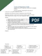The Empirical Formula of Magnesium Oxide