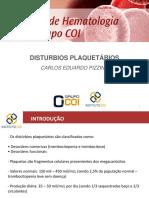 Distúrbios Plaquetários