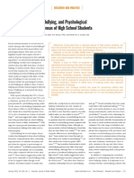 Cyberbullying School Bullying and Psychological Distress