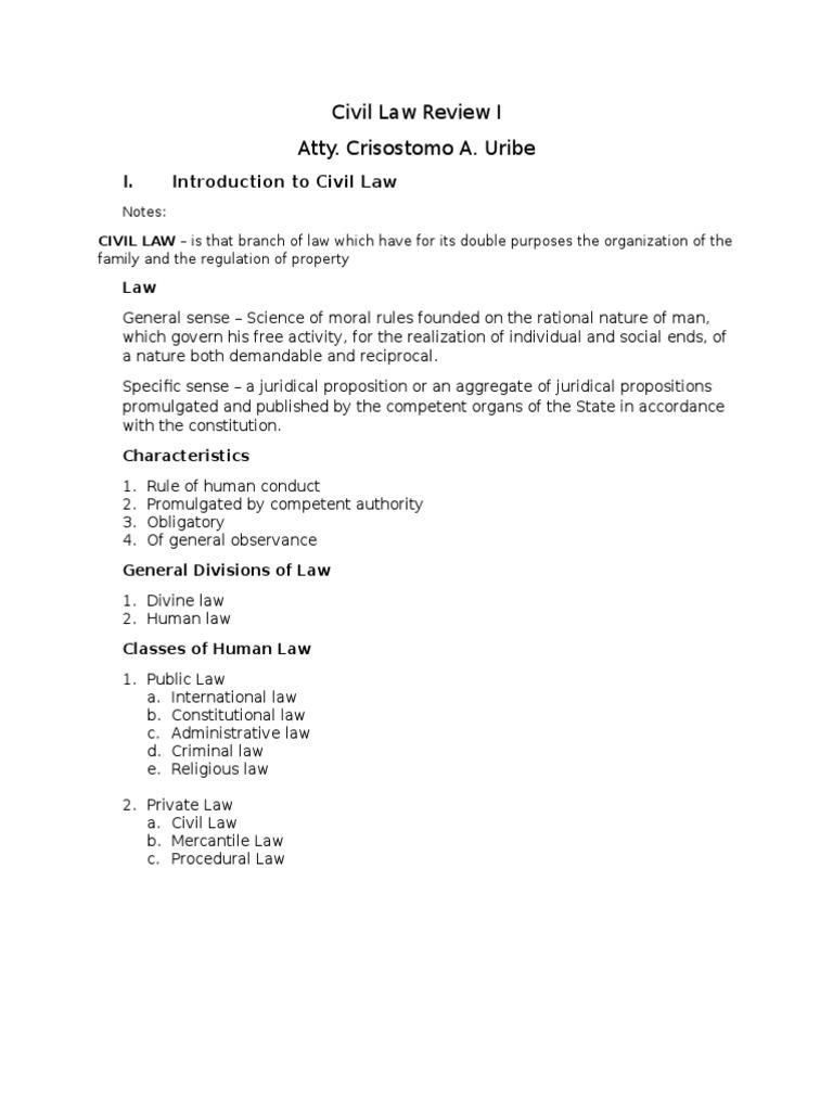 civil law vs divine law