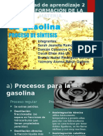 Proceso industrial de la gasolina