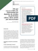 06.050 Artritis Por Microcristales (2). Enfermedad Por Depósito de Cristales de Pirofosfato Cálcico. Otras Artritis Por Microcristales