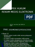 Aspek Hukum Rekam Medis Elektronik