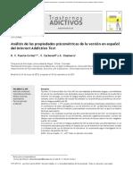 Análisis de Las Propiedades Psicométricas Del IAT Versión en Español