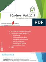 BCA GreenMark 2015 Pilot Slides