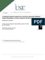 Afinoguénova, Eugenia - Dialéctica Histórico-espacial en Vázquez Montalbán y Lefebvre