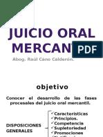 Juicio Oral Mercantil Juez Cano