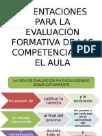 Orientaciones Para La Evaluación Formativa de Las Competencias