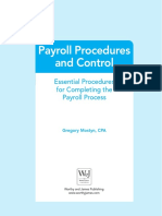 Payroll Procedures and Control