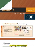 Deutsch 1 - Lektion 5 (2016-04-27)