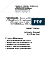 Design and Construction of Check Dam(Intoduction)-Synopsis