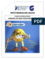 Modul Kejurulatihan Animasi 3D Pensyarah TMK IPGM