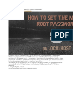 How to Set the MySQL Root Password in Localhost Using WAMP