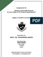 economics department peshawar university title page
