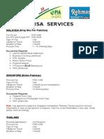 Visa List Fees Docs 23 Jan 2016