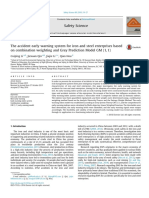 The Accident Early Warning System for Iron and Steel Enterprises Based on Combination Weighting and Grey Prediction Model GM