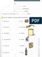Ejercicios Vocabulario Medidas y Envases