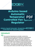 Arduino Based Automatic Temperature Controlled Fan Speed Regulator