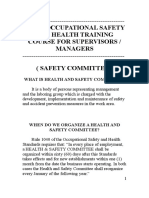 Basic Occupational Safety and Health Training Course for Supervisors