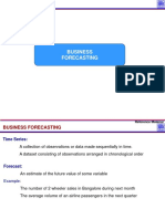 3.0 Business Forecasting