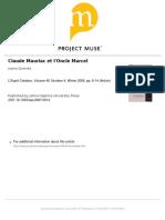 Sobre Claude Mauriac e Proust