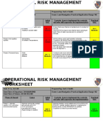 Operational Risk Management Template
