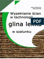 E-book Wypełnianie Ścian w Technologii Glina Lekka, Budujemy z Gliny