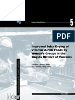 Improved Solar Drying of Vitamin a Rich Foods by Womens Groups in the Singida District of Tanzania