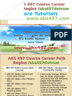 ABS 497 Course Career Path Begins Abs497dotcom