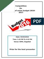 India Budget Impact 2016