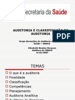 AUDITORIA E CLASSIFICAÇÃO DE AUDITORIA