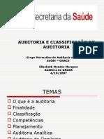 AUDITORIA E CLASSIFICAÇÃO DE AUDITORIA