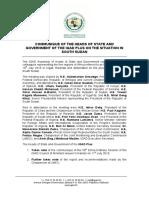 Final Communique Igad Plus on South Sudan