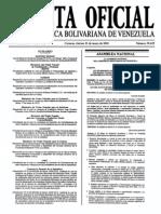 Sumario Gaceta Oficial 39.429