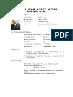 Curriculum Xavier Verdy