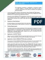 PCTDS 001 Revision 2 Fendolite MII Application Onto Horizontal Storage Vessels