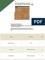 Inscriptions 14